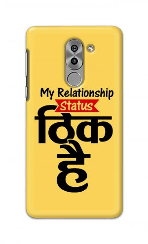 For Huawei Honor 6X Printed Mobile Case Back Cover Pouch (My Relationship Status)