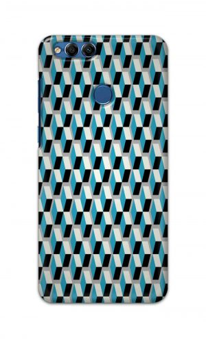 For Huawei Honor 7X Printed Mobile Case Back Cover Pouch (Diamonds Pattern)
