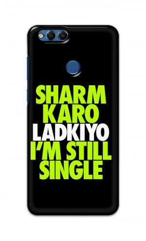 For Huawei Honor 7X Printed Mobile Case Back Cover Pouch (Sharm Karo Ladkiyon)
