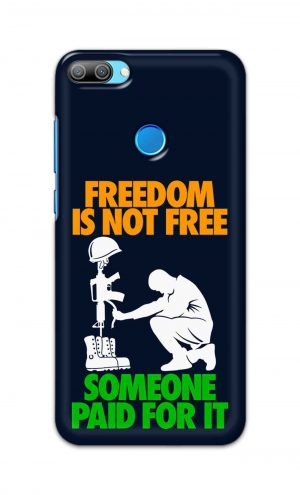 For Huawei Honor 9N Printed Mobile Case Back Cover Pouch (Freedom Is Not Free)