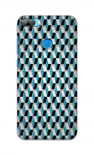 For Huawei Honor 9N Printed Mobile Case Back Cover Pouch (Diamonds Pattern)