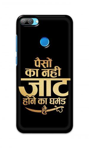 For Huawei Honor 9N Printed Mobile Case Back Cover Pouch (Paison Ka Nahi Jaat Hone Ka Ghamand Hai)