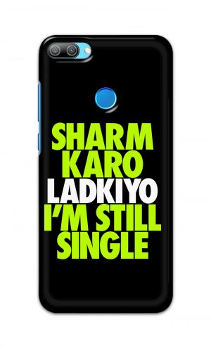 For Huawei Honor 9N Printed Mobile Case Back Cover Pouch (Sharm Karo Ladkiyon)