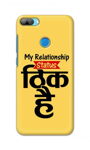 For Huawei Honor 9N Printed Mobile Case Back Cover Pouch (My Relationship Status)