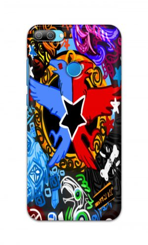For Huawei Honor 9N Printed Mobile Case Back Cover Pouch (Colorful Eagle)