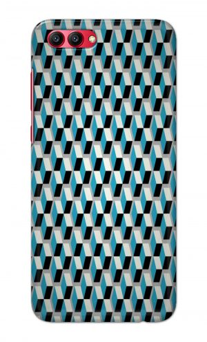 For Huawei Honor V10 Printed Mobile Case Back Cover Pouch (Diamonds Pattern)