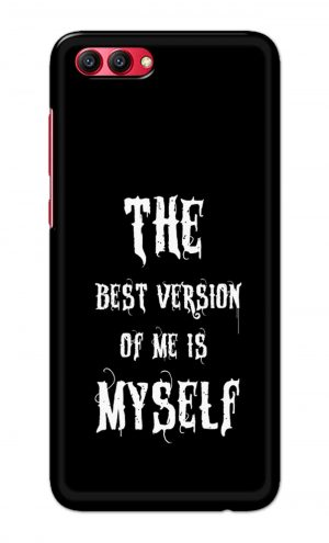 For Huawei Honor V10 Printed Mobile Case Back Cover Pouch (The Best Version Of Me)