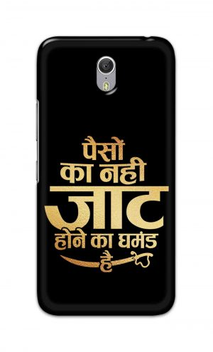 For Lenovo Zuk Z1 Printed Mobile Case Back Cover Pouch (Paison Ka Nahi Jaat Hone Ka Ghamand Hai)