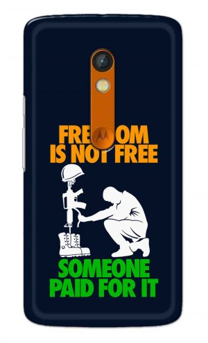 For Motorola Moto X Play Printed Mobile Case Back Cover Pouch (Freedom Is Not Free)