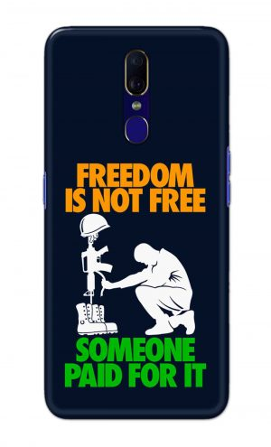 For OPPO F11 Printed Mobile Case Back Cover Pouch (Freedom Is Not Free)