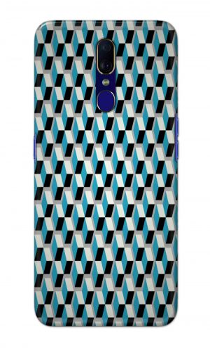 For OPPO F11 Printed Mobile Case Back Cover Pouch (Diamonds Pattern)