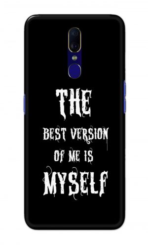For OPPO F11 Printed Mobile Case Back Cover Pouch (The Best Version Of Me)