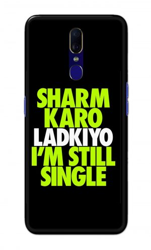 For OPPO F11 Printed Mobile Case Back Cover Pouch (Sharm Karo Ladkiyon)