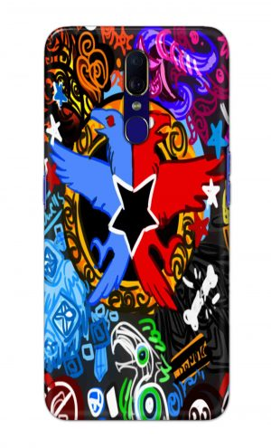 For OPPO F11 Printed Mobile Case Back Cover Pouch (Colorful Eagle)