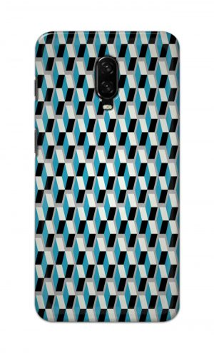 For OnePlus 6t Printed Mobile Case Back Cover Pouch (Diamonds Pattern)