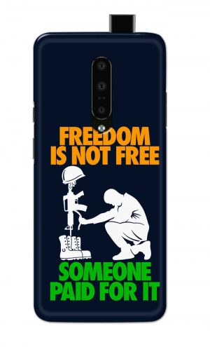For OnePlus 7 Pro Printed Mobile Case Back Cover Pouch (Freedom Is Not Free)