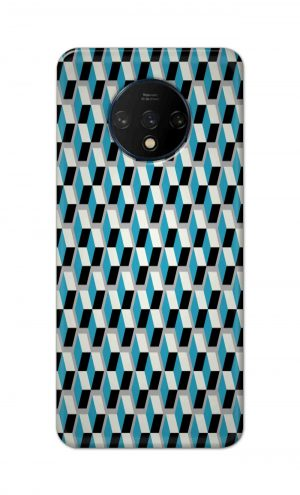 For OnePlus 7t Printed Mobile Case Back Cover Pouch (Diamonds Pattern)