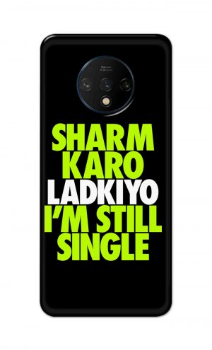 For OnePlus 7t Printed Mobile Case Back Cover Pouch (Sharm Karo Ladkiyon)