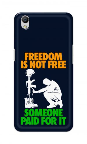 For OppoA37 Printed Mobile Case Back Cover Pouch (Freedom Is Not Free)