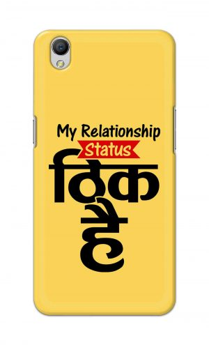 For OppoA37 Printed Mobile Case Back Cover Pouch (My Relationship Status)