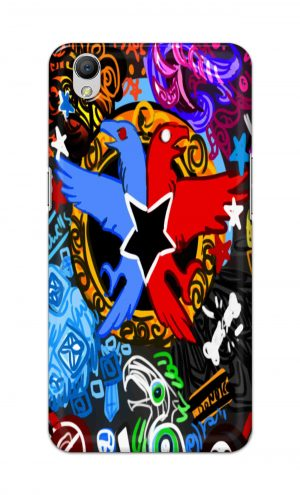 For OppoA37 Printed Mobile Case Back Cover Pouch (Colorful Eagle)
