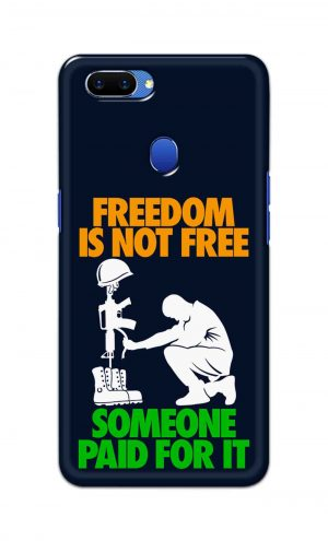 For Oppo A5 Printed Mobile Case Back Cover Pouch (Freedom Is Not Free)