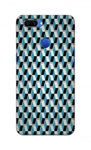 For Oppo A5 Printed Mobile Case Back Cover Pouch (Diamonds Pattern)