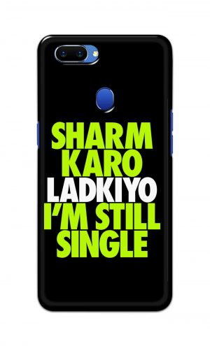 For Oppo A5 Printed Mobile Case Back Cover Pouch (Sharm Karo Ladkiyon)