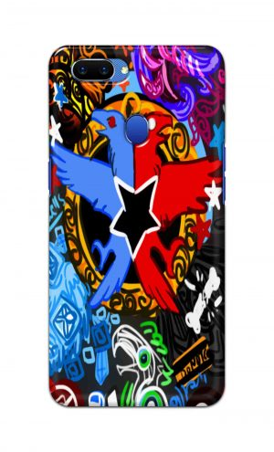 For Oppo A5 Printed Mobile Case Back Cover Pouch (Colorful Eagle)