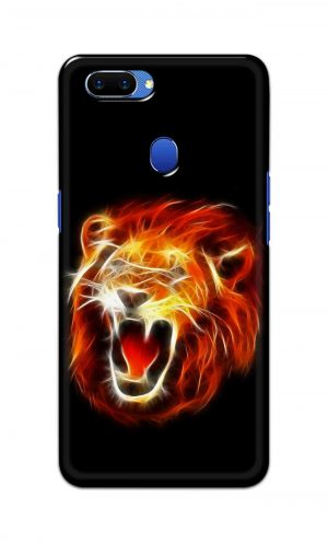 For Oppo A5 Printed Mobile Case Back Cover Pouch (Lion Fire)