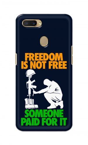 For Oppo A5s Printed Mobile Case Back Cover Pouch (Freedom Is Not Free)