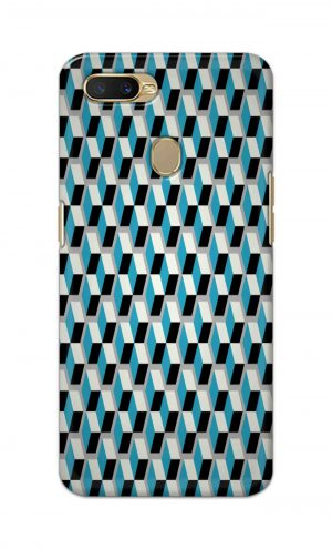 For Oppo A5s Printed Mobile Case Back Cover Pouch (Diamonds Pattern)