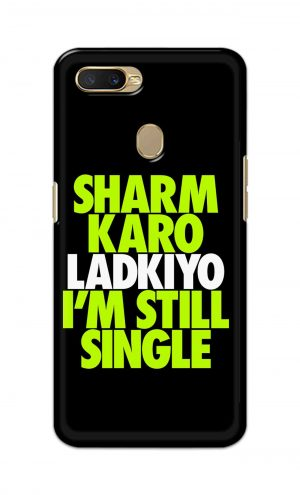 For Oppo A5s Printed Mobile Case Back Cover Pouch (Sharm Karo Ladkiyon)