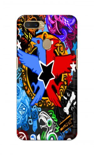 For OppoA5 Printed Mobile Case Back Cover Pouch (Colorful Eagle)