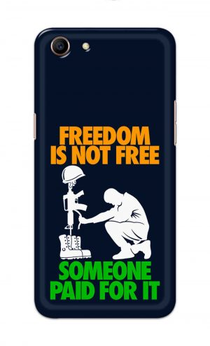 For Oppo A83 Printed Mobile Case Back Cover Pouch (Freedom Is Not Free)