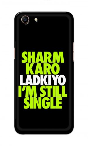 For Oppo A83 Printed Mobile Case Back Cover Pouch (Sharm Karo Ladkiyon)
