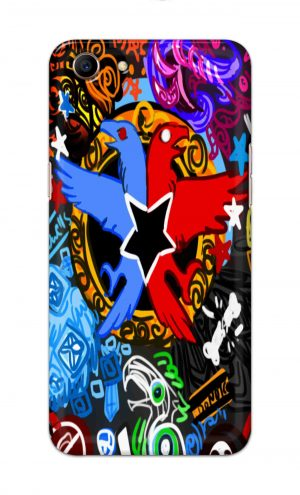 For Oppo A83 Printed Mobile Case Back Cover Pouch (Colorful Eagle)