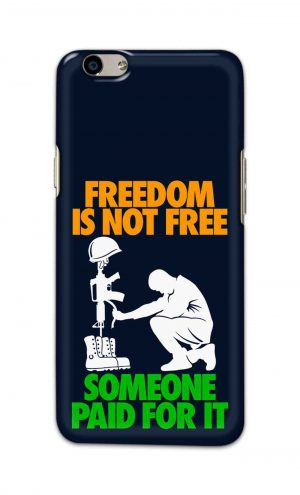 For Oppo F1s Printed Mobile Case Back Cover Pouch (Freedom Is Not Free)