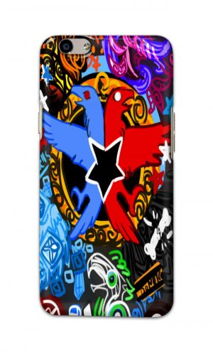 For Oppo F1s Printed Mobile Case Back Cover Pouch (Colorful Eagle)