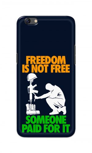For Oppo F3 Printed Mobile Case Back Cover Pouch (Freedom Is Not Free)