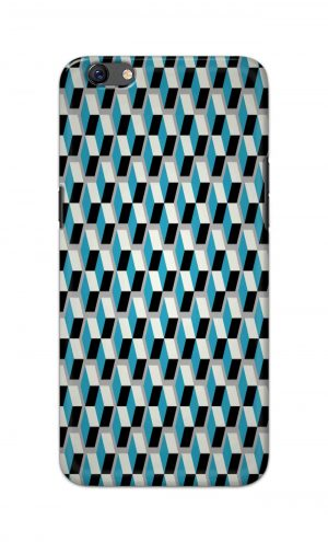 For Oppo F3 Printed Mobile Case Back Cover Pouch (Diamonds Pattern)
