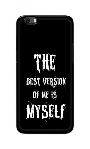 For Oppo F3 Printed Mobile Case Back Cover Pouch (The Best Version Of Me)