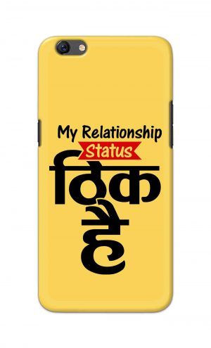 For Oppo F3 Printed Mobile Case Back Cover Pouch (My Relationship Status)