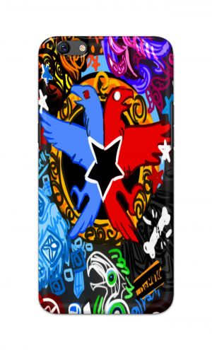 For Oppo F3 Printed Mobile Case Back Cover Pouch (Colorful Eagle)