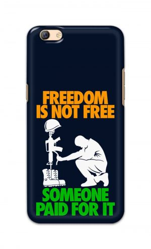 For Oppo F3 Plus Printed Mobile Case Back Cover Pouch (Freedom Is Not Free)