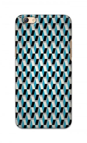 For Oppo F3 Plus Printed Mobile Case Back Cover Pouch (Diamonds Pattern)