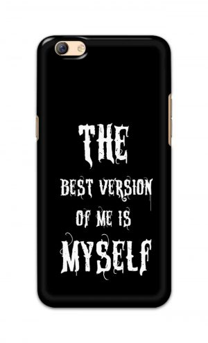 For Oppo F3 Plus Printed Mobile Case Back Cover Pouch (The Best Version Of Me)