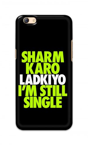 For Oppo F3 Plus Printed Mobile Case Back Cover Pouch (Sharm Karo Ladkiyon)