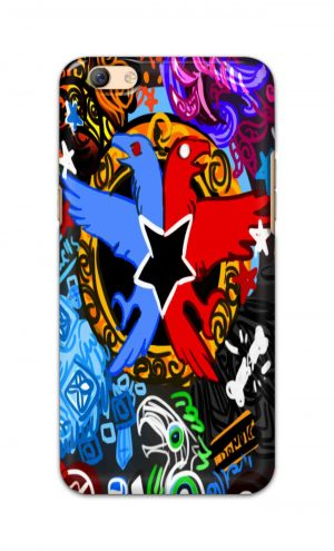 For Oppo F3 Plus Printed Mobile Case Back Cover Pouch (Colorful Eagle)