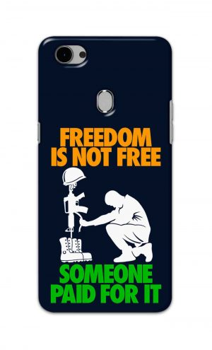 For Oppo F7 Printed Mobile Case Back Cover Pouch (Freedom Is Not Free)